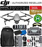 DJI Mavic 2 Pro 2 Drone Quadcopter with Hasselblad Camera Adjustable Aperture 20MP 1' CMOS Sensor and SanDisk Extreme 128GB MicroSDXC UHS-I Card (2X Battery) Essential Bundle
