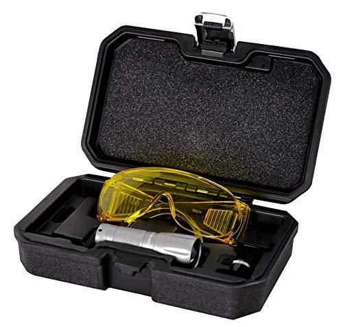 (AiCooler LED True UV Detection Flashlight with Yellow Protective Goggles. UV Dye Leak Detector, Taiwan Made (UV wavelength 395 nm))