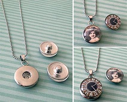 Amazon make your own photo snap necklace jewelry kit make your own photo snap necklace jewelry kit aloadofball Images