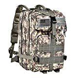 CVLIFE Outdoor Tactical Backpack Military Rucksacks for Camping Hiking Water Resitant Combat Medium Packs 40L(Camouflage ACU)