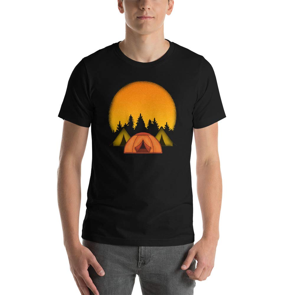 Tents in The Woods Camping Short-Sleeve Unisex T-Shirt
