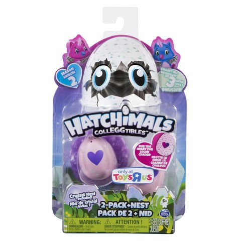 Toys R Us Exclusive Owlicorn Hatchimals Colleggtibles Season 2 2 Pack   Nest