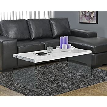 Amazoncom Monarch Metal Cocktail Table Glossy WhiteChrome
