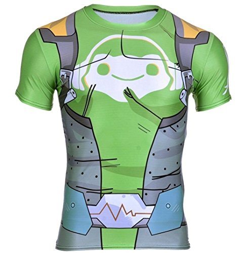 Overwatch Lucio T-Shirt by Aesthetic Cosplay   Lucio 3D Inspired Design   Lucio Muscle Shirt Lucio Tshirt - Tracer Helmet Kids
