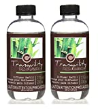 Hosley Aromatherapy Set of 2 Premium Fresh Bamboo Reed Diffuser Refills Oil, 230 ml (7.75 fl oz) Made in USA. BULK BUY. Ideal GIFT for Weddings, Spa, Reiki, Meditation Settings O4