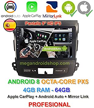 2din Gps Radio Android 10 Ips Display Octacore Px5 64bits 4gb Ddr3 Ram 64gb Apple Car Play Android Auto Citroen C Crosser Mitsubishi Outlander Und Peugeot 4007 Navigation