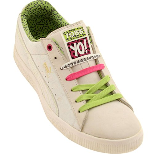 Puma Ed & Dre Clyde (white / lime green / beetroot purple) pOd9t