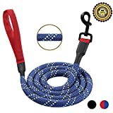 LEDORR Dog Leash,Strong Rope Leash with Padded Handle,5ft Long Extra Thick,Highly Reflective Nylon Leash,Mountain Climbing Rope Lead for Small Medium and Large Dogs,Sturdy Dog Training Leash (1/2inch)