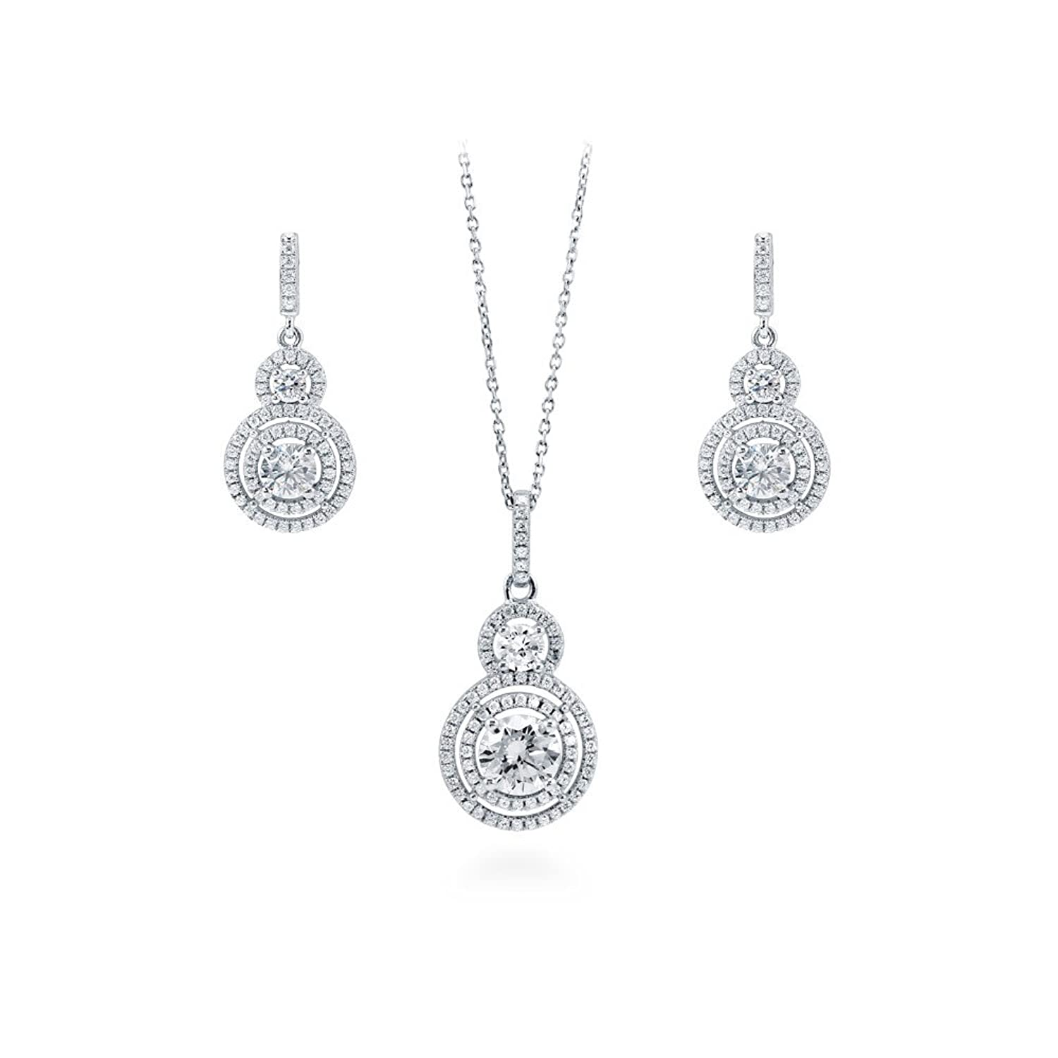 908aabbad6e5 Halo Earrings Plated Sterling Berricle Stud Silver Cut Cz Rhodium Cubic  Zirconia Cushion g6vmI7bfyY