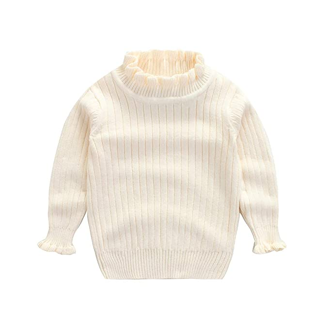 dbd761e0d Baby Girl Sweater Infant Warm Combed Cotton Cardigan Knit Slim Collar  Pullover 2-6T (