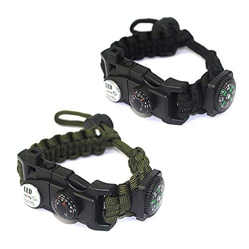 Survival Bracelet,HanDingSM Adjustable Paracord Bracelets with Embedded...