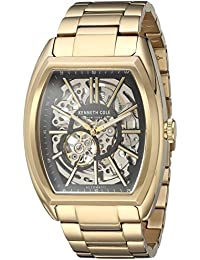 Men's ' Automatic Stainless Steel Dress Watch, Color:Gold-Toned (Model: 10030813)
