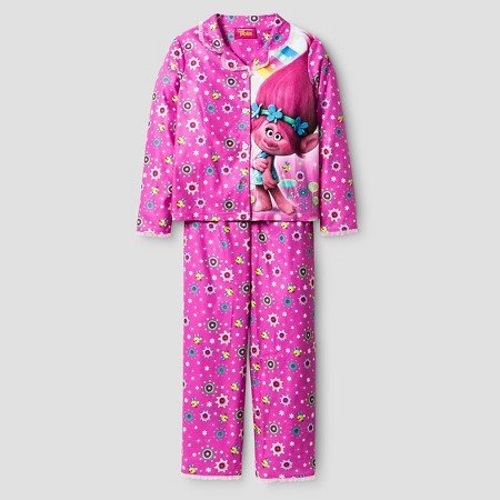 Dreamworks Trolls Girls 2 Piece Pajama Set Size 10
