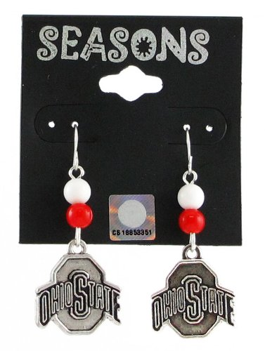NCAA Ohio State Buckeyes Beaded Team Logo Earrings