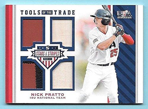 2017 USA Stars & Stripes TOTT #31 Nick Pratto Quad Prime Patch / Bat Card #13/25