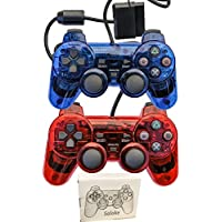 Saloke 2 Packs Wired Gaming Controllers for Ps2 Double...