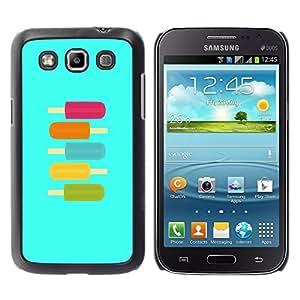 TopCaseStore / la caja del caucho duro de la cubierta de protección de la piel - Ice-Cream Teal Purple Green Summer Sweet - Samsung Galaxy Win I8550 I8552 Grand Quattro