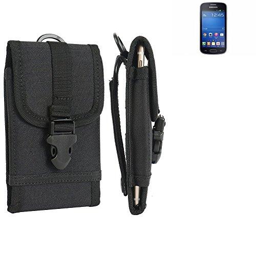 bolsa del cinturón / funda para Samsung Galaxy Trend Lite, negro | caja del teléfono cubierta protectora bolso - K-S-Trade (TM)