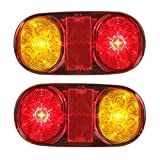 Hitommy 2PCS LED Tail Trailer Lights For Truck Boat Ute Submersible No/Plate