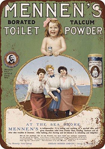 1905 Mennen's Borated Talcum Toilet Powder Vintage Look Reproduction Metal Tin Sign 12X18 (Talcum Powder Tin)
