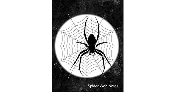 Original Spider Web Blue Ink Painting 5x7