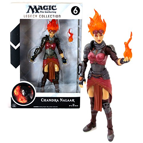 Funko Year 2014 Magic The Gathering Legacy Collection Series 7-1/2 Inch Tall Action Figure - CHANDRA NALAAR with Ball of Flame by Magic: the Gathering