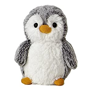 "pompom penguin small 6"" by aurora - 51NIIp 2BskPL - Aurora 9789 World 6″ Pompom Mini Penguin, Grey and White"