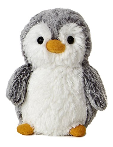 "Aurora 9789 World 6"" Pompom Mini PENGUIN, Grey And White"