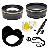 58mm Essential Lens Kit for Select Sony Cybershot Digital Cameras. Includes 2.2x Telephoto Lens, 0.43x HD Wide Angle Lens w/Macro, Flower Tulip Lens Hood. Also Includes: UltraPro Accessory Set