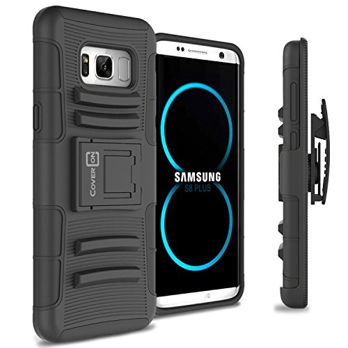 Galaxy S8 Plus Holster Case, CoverON [Explorer Series] Holster Hybrid Armor Belt Clip Hard Phone Cover For Samsung Galaxy S8 Plus Holster Case