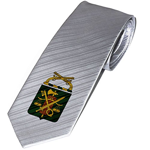 (Necktie / Tie with U.S. Army Military Police Corps, reg coat of arms)