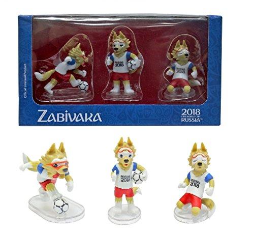 - IE Sokhatskiy Zabivaka Official Mascot of FIFA 2018 in Gift Box : Set #1 (Zabivaka Standard) of 3 Figures.