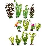 Imagitarium Variety Pack Plastic Aquarium Plants, Small/Medium, Pink