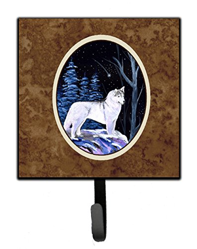 (Caroline's Treasures SS8400SH4 Starry Night Siberian Husky Leash Holder or Key Hook, Small, Multicolor)