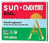 Sun Chlorella - Chlorella Superfood Nutritional Supplement (500 Mg- 120 Tablets)