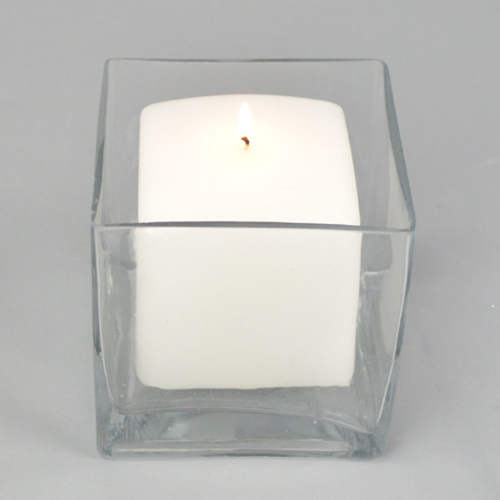 Square, candle, glass, vase, wedding, diy, budget wedding