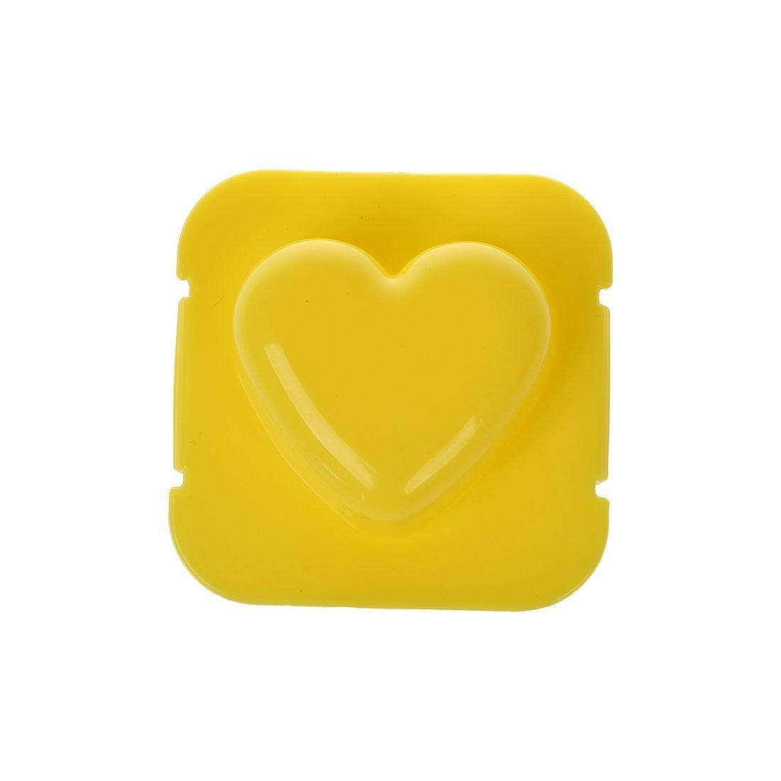 Xigeapg Yellow Heart Style Onigiri Sushi Mold Tray Rice Ball Maker