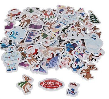 Rudolph the Red Nosed Reindeer Self-Adhesive Shapes Stickers, Pack of 50 Shapes (Snow Monster From Rudolph The Red Nosed Reindeer)