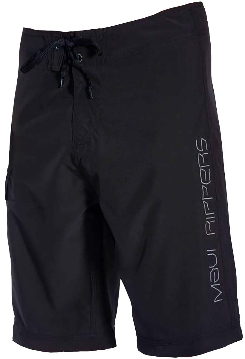 Maui Rippers Long Board Shorts 24 Inch Outseam, 4 Way Stretch (Black, 36) by Maui Rippers