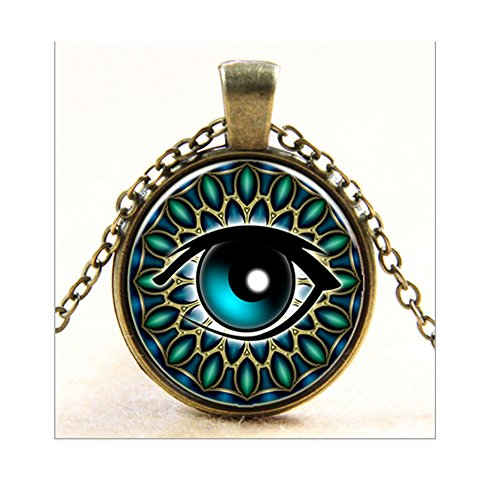 Darkey Wang Fashionable Women Demons Eye Time Glass Gem Necklace