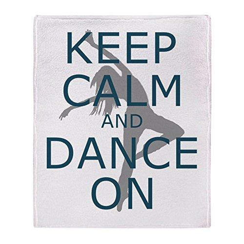 CafePress Keep Calm And Dance On Teal Soft Fleece Throw Blanket Custom Keep Calm And Throw A Blanket On It