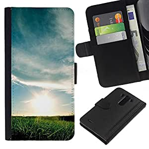 Ihec-Tech / Flip PU Cuero Cover Case para LG Optimus G3 - Nature Beautiful Forrest Green 164