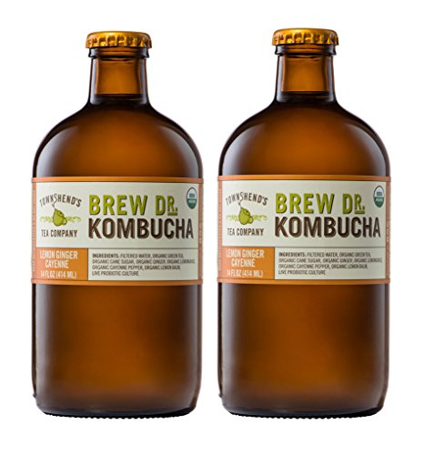Brew Dr Lemon Ginger Cayenne Raw Organic Kombucha (2 bottles)