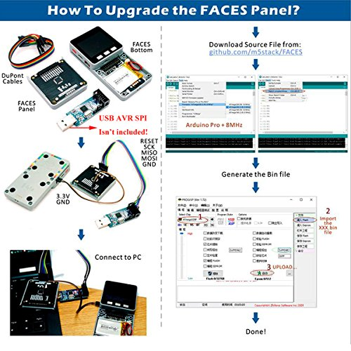 MakerFocus ESP32 Open Source Faces Pocket Computer with Keyboard/Gameboy/Calculator M5Stack Board Built-in 650mAh Battery for MicroPYTHON Arduino by MakerFocus (Image #3)