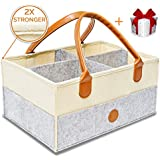 Baby Diaper Caddy Organizer | Nursery Storage Bin |...