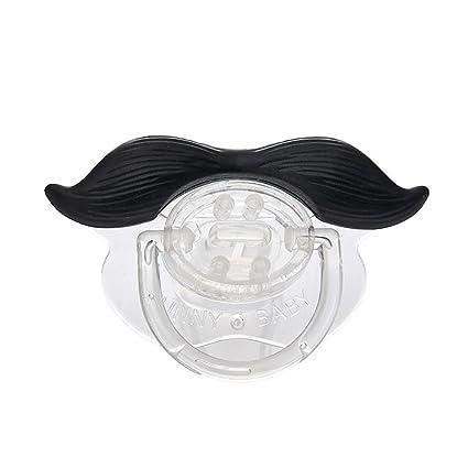 Naisicatar divertido Negro de silicona Chupete Chupete infantil del bebé infantil pezones barba del bigote (caída barba) del bonito regalo