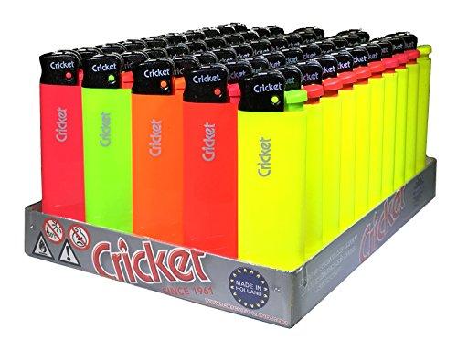 Cricket Disposable Lighters, Flue, 50 Piece