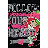 "Strawberry Shortcake ""Follow Your Heart"" Black T-Shirt 2T-4T"