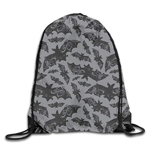 HBbaodingbdf Halloween Bats Men & Women Fashion Backpacks Shoulder Bag Laptop Backpack,Sport Gym Sackpack Drawstring Backpack Bag - -