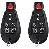 SaverRemotes 7 Button Key Fob Compatible for 2008-2015 Chrysler Town and Country, 2008-2014 Dodge Grand Caravan